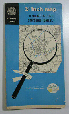 1958 Old OS Ordnance Survey 1:25000 First Series Map ST 61 Sherborne (Dorset)