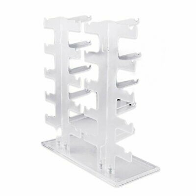 2 Row 10 Pairs Sunglasses Glasses Rack Holder Frame Display Stand Transparent BN