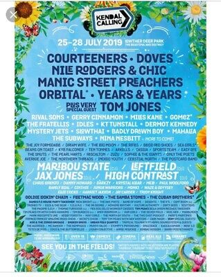kendal calling weekend tickets x4 including tipi