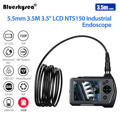 """NTS150 5.5mm 3.5M 1MP HD 3.5"""" LCD 720P Portable IP67 6 LED Industrial Borescope"""