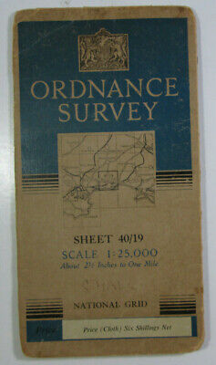 1950 Old OS Ordnance Survey 1:25000 First Series Map SZ 19 Bournemouth E 40/19