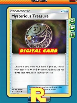 2x Mysterious Treasure - for Pokemon TCG Online ( ptcgo in Game Card)