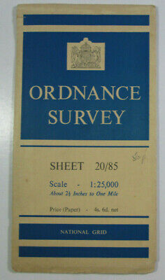 1950 Old Vintage OS Ordnance Survey 1:25000 First Series Map SX 85 Dartmouth