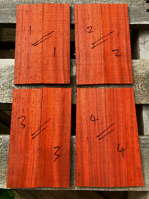 African padauk bookmatched razor scale / small knife handle / 5mm sets