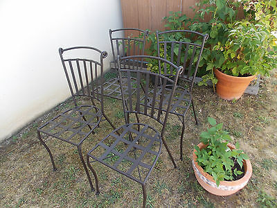 SALON DE JARDIN fer forgé vintage par Mathieu MATEGOT 1 table 2 ...