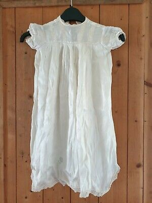 Vintage Babies Christening Dress And Shoes