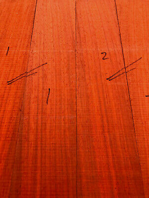 African padauk bookmatched 5mm sets / boxmakers wood 195-375mm L / 58-75mm W