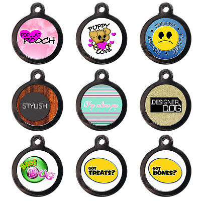 Pet ID Tags Custom Dog Cat Name Collar Tags - Personalised FREE - Cute Pet Discs