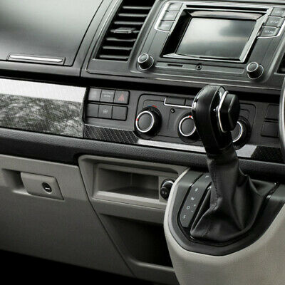 VW Transporter T6 Lower Dash Styling Trims Carbon Effect