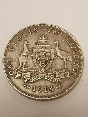 1914 Australia One Florin Two shillings