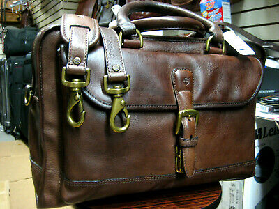 2f99a6692d vintage TIMBERLAND Heavy Duty saddle Leather Mens Briefcase Messenger Bag  USA 2