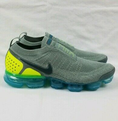 Nike Air VaporMax Flyknit Moc 2 Running Shoes Men Sz 11.5 Mica Green AH7006-300