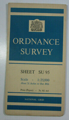 1961 Old OS Ordnance Survey 1:25000 First Series Provis Map SU 95 Pirbright