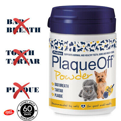 Plaque Off Powder For Cats & Dogs Tooth Tartar Plaque Bad Breath Removal - 60g