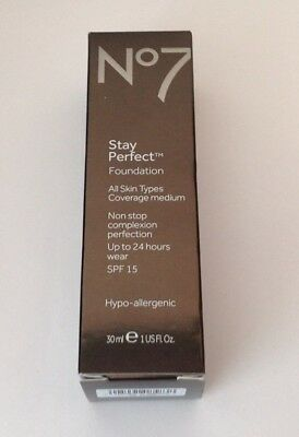 No7 STAY PERFECT FOUNDATION all skin types coverage medium 30ml