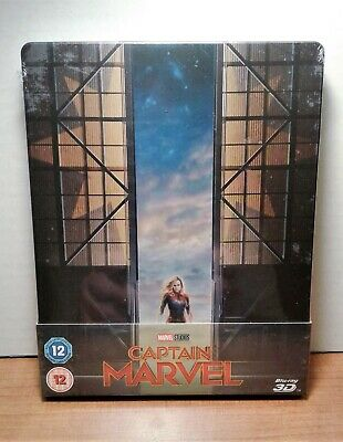 Captain Marvel [SteelBook] [3D Blu-ray+Blu-ray] New & Sealed - Pre-Order