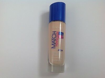 RIMMEL MATCH PERFECTION FOUNDATION 30ml SPF20 various shades
