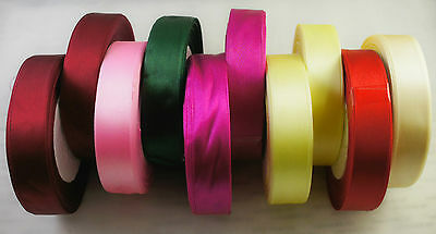 10 x Mixed Colour Ribbon Reels Bundle Packing Gift Wrapping Decoration (R5)
