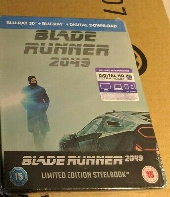Blade Runner 2049 - Limited Edition Steelbook (Blu-ray 2D/3D) BRAND NEW!!