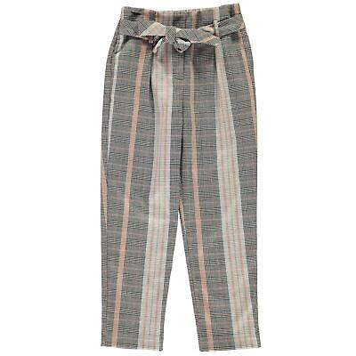 Kids Girls Firetrap Tapered Trousers Junior Checked New