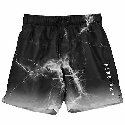 Kids Boys Firetrap Swim Shorts Junior Drawstring New