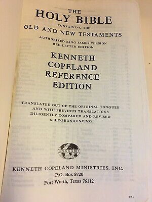HOLY BIBLE NKJV Kenneth Copeland Study Bible Teaching Outline Sealed