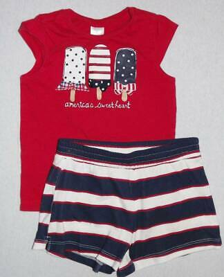 NWT Gymboree Baby Toddler Girl RED WHITE /& CUTE 4th Of July Flag Rash Guard Set