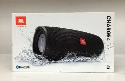 NEW & SEALED JBL Charge 4 Bluetooth Wireless Speaker - Black - Ships Free