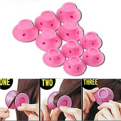 40 pieces Pink Silicone Hair Magic Curlers