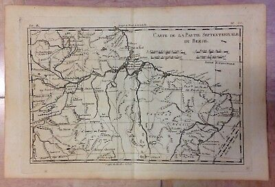 Northern Brazil 1780 Rigobert Bonne Antique Engraved Map 18Th Century