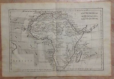 AFRICA 1780 by RIGOBERT BONNE ANTIQUE COPPER ENGRAVED MAP 18TH CENTURY