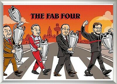 Fab Four Champions League/ Liverpool Card A3 Picture