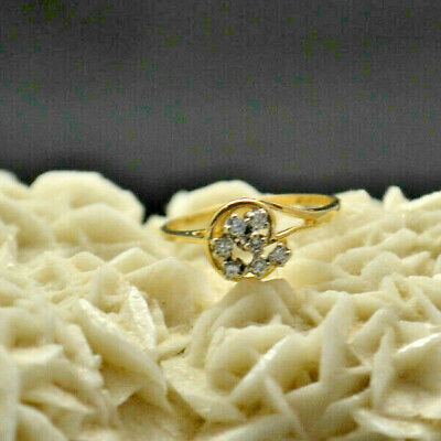 14k Yellow Gold Ring. Size 6.5