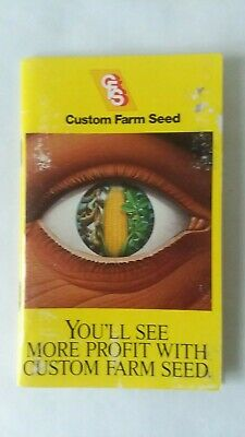 Vtg 1988 Custom Farm Seed Pocket Note Book Advertising Cover Only Sturgis MI