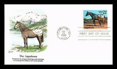 Dr Jim Stamps Us Appaloosa American Horses First Day Cover Lexington Kentucky
