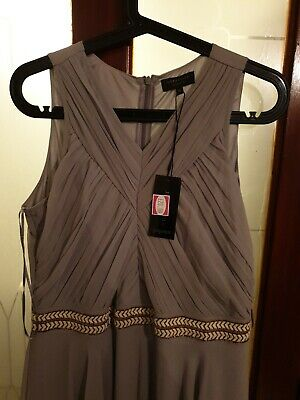 BRAND NEW Size 16 Matalan/papaya Grey Occasion Long Dress