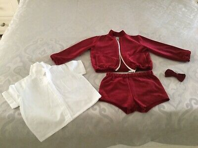 A boys vintage velour outfit age 3 by Brierlys of Blackburn