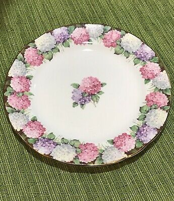 PARAGON Hydrangeas SIDE PLATE - Double Warrant - DESSERT PLATE **Rare To Find**