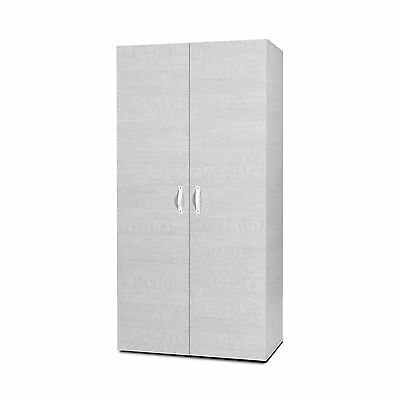 New Riverside Oak/Dark Grey - DIDIT Click Furniture Bedroom 2 Door Wardrobe