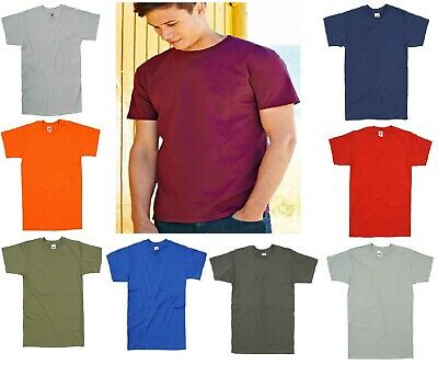 Fruit Of The Loom Plain Multi Colour Cotton Mens  Cheap Tee T-Shirt Tshirt S-5XL