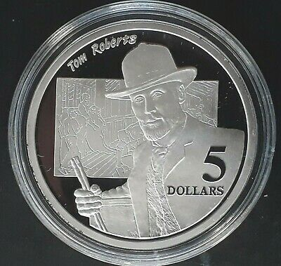 1996 Australia Shaping National Identity: Tom Roberts Silver (.925) $5 coin