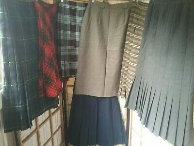 Vintage Wool Tartan Fletcher Jones Skirt Lot