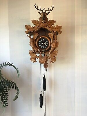 German Hunter Cuckoo Clock  Works