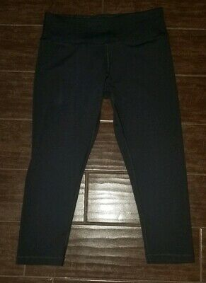 a39020764b9469 90 DEGREE~By Reflex~RICH Black Cropped yoga gym Leggings ** Size MEDIUM