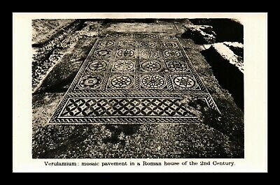 Dr Jim Stamps Mosaic Floor Roman House Real Photo Postcard Art