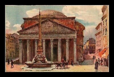 Dr Jim Stamps The Pantheon Rome Italy View Old Postcard