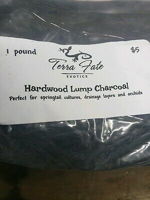 100% All Natural Hardwood Lump Charcoal 1-lb Vivarium Springtail Culture Potting