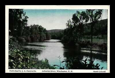 Dr Jim Stamps Us Ashuelot River Winchester New Hampshire Postcard