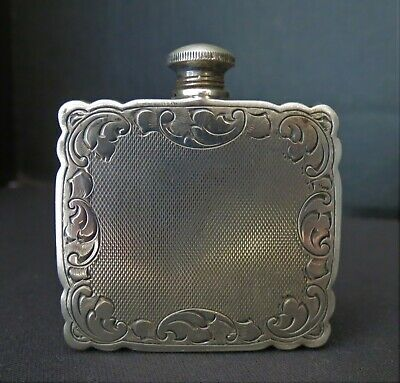 Antique STERLING SILVER 925 Perfume Flask Holder With Original Contents