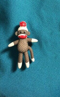 Cute SOCK MONKEY Full Body Sockmonkey Brown Animal Croc Hole Accessories Charm